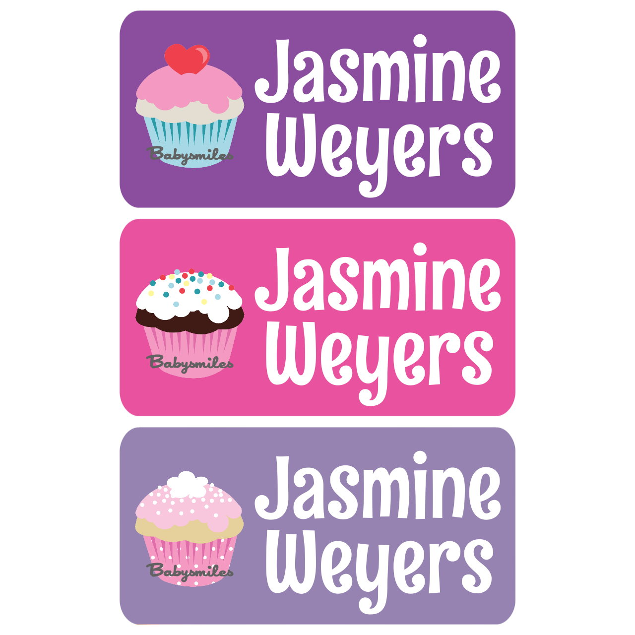 Sweet cupcakes clothing tag labels