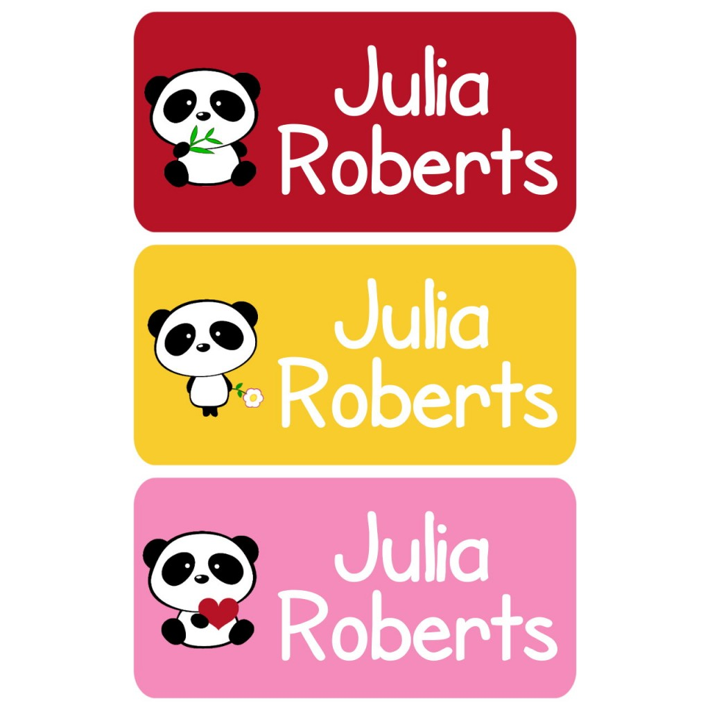 Cutie Panda Clothing Tag Labels | Baby Smiles Labels