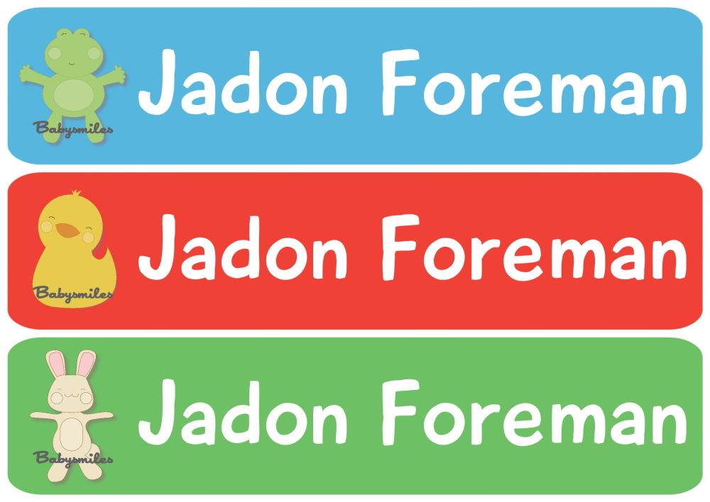 Lil Best Friends Rectangle Personalized Name Labels | Baby ...