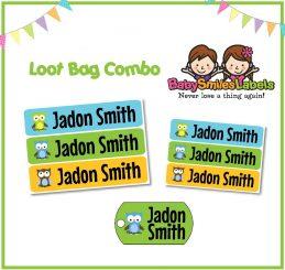 Loot Bag Combo - Adorable Owl Boy 2