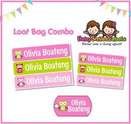 Loot Bag Combo - Adorable Owl Girl