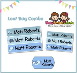 Loot Bag Combo - Baby Blue Elephant