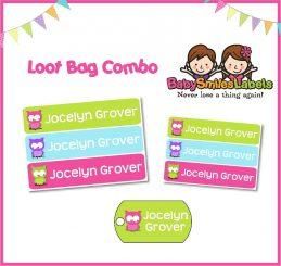 Loot Bag Combo - Cute Owl Girl