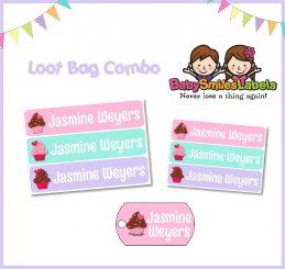 Loot Bag Combo - Sweet Cupcakes