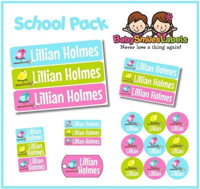 School & Daycare Label Packs