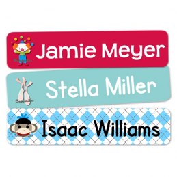 Theme Rectangle Waterproof Name Labels