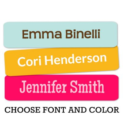 Solid Color Rectangle Personalized Labels