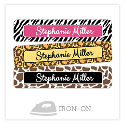 Theme Iron-On Clothing Labels