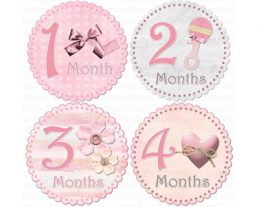 Ariana - Sweety Baby Monthly Photo Stickers