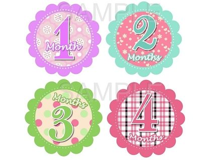 Elena - Fancy Girl Monthly Photo Stickers