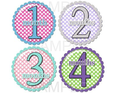 Iris - Super Sweet Polka Dots Monthly Photo Stickers