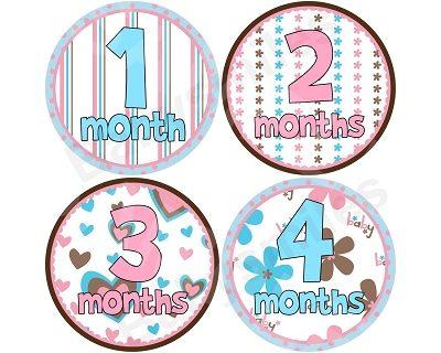 Lexi - Precious Girl Monthly Photo Stickers