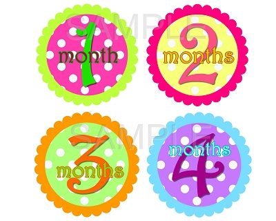 Sophia - Happy Dots Monthly Photo Stickers
