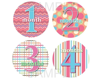 Stephanie - Candy Patterns Monthly Photo Stickers