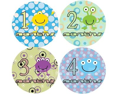 Adam - Cute Aliens Monthly Photo Stickers