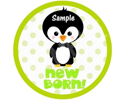 Brendan - Cutie Penguin Boy Monthly Photo Stickers