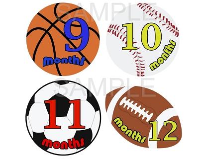 Nolan - Sports Superstar Monthly Photo Stickers
