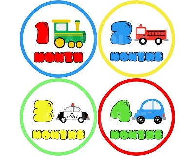 Roman - Baby Cars Monthly Photo Stickers