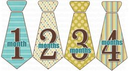 Richard - Monthly Photo Onesie Stickers Tie Design
