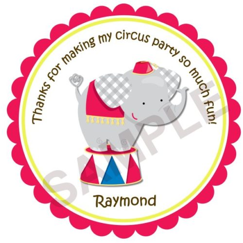 Circus Personalized Stickers