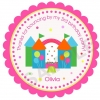 Bounce House Fun Personalized Stickers