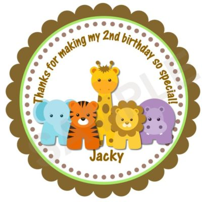 Adorable Jungle Safari Personalized Stickers