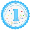 Fancy Polka Dot Birthday Number Personalized Stickers
