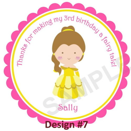 Little Cute Princess Stickers Personalized Stickers