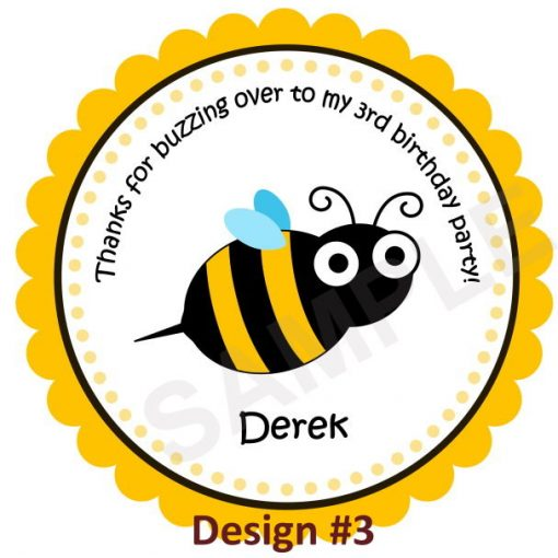 Little Cute Bumble Bee Personalized Stickers