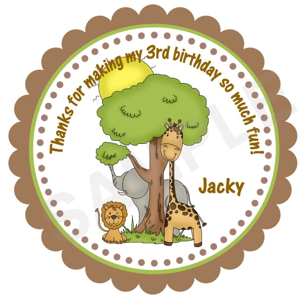 Jungle Safari Personalized Stickers