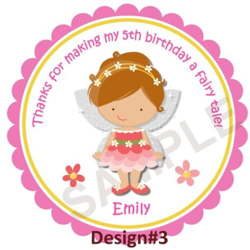 Fairy Girl Personalized Stickers
