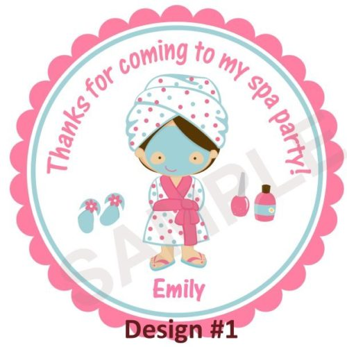 Spa Party Personalized Stickers