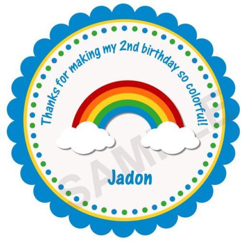 Happy Rainbow Personalized Stickers