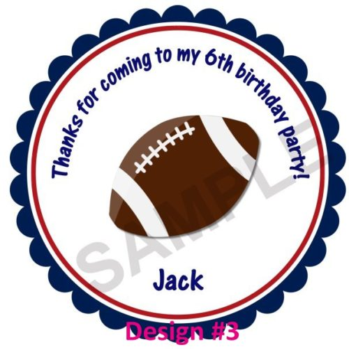 Football All Stars Personalized Stickers