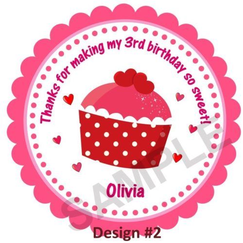 Sweet Birthday Cupcake Personalized Stickers