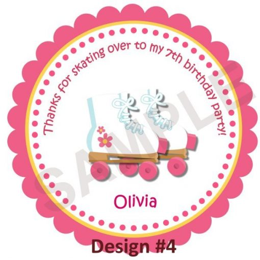 Roller Skate Girl Personalized Stickers