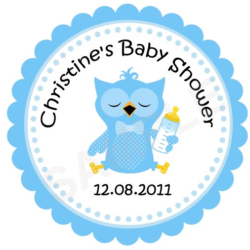 Baby Owl Personalized Stickers