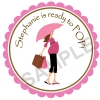 Baby Shower Lady Personalized Stickers