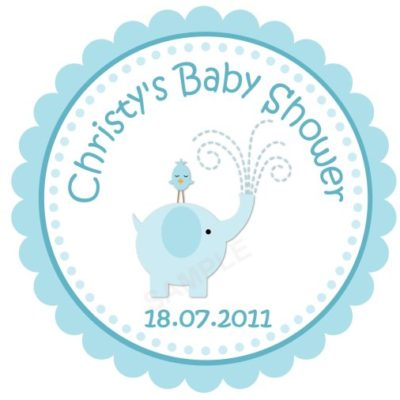 Adorable Baby Elephant Personalized Stickers