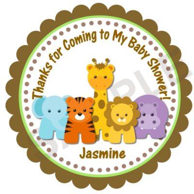 Jungle Animals Personalized Stickers