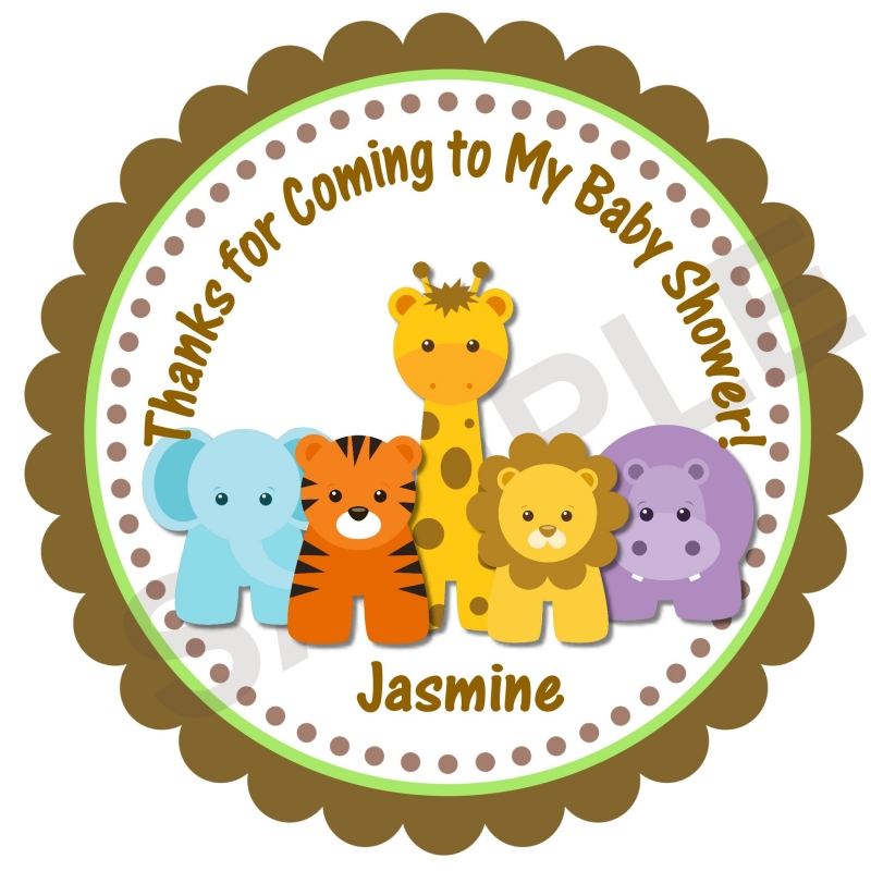 Jungle Animals Personalized Stickers