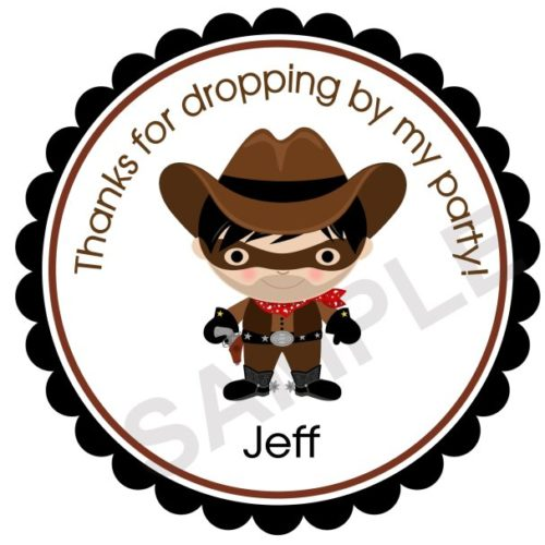 Adorable Cowboy Personalized Stickers