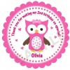 Adorable Owl Personalized Stickers