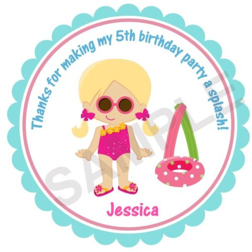 Summer Fun Personalized Stickers