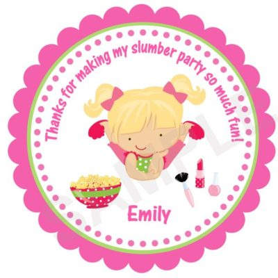 Slumber Party Personalized Stickers