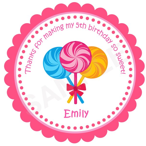 Lollipops Personalized Stickers