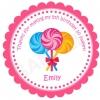 Lollipops Personalized Stickers