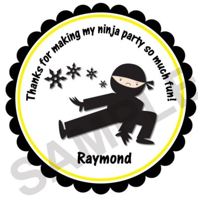 Ninja Party Personalized Stickers