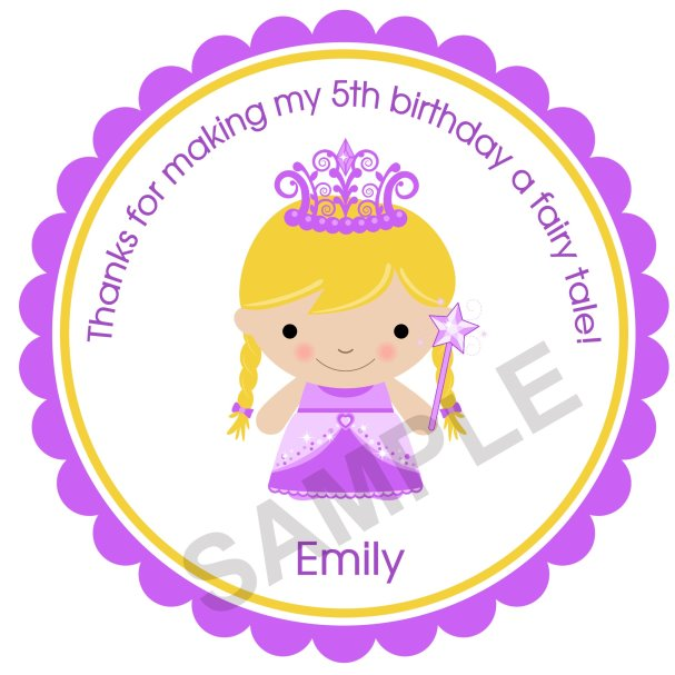 My Princess Personalized Stickers