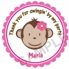 Mod Monkey Personalized Stickers